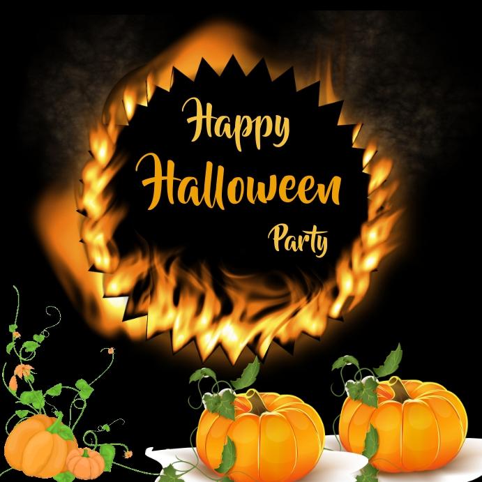 Halloween Instagram-bericht template