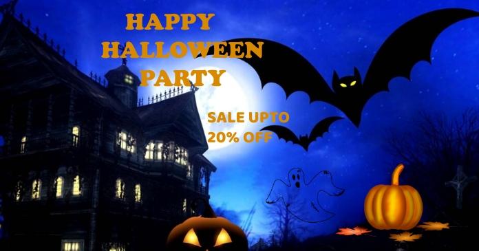 Halloween delt Facebook-billede template