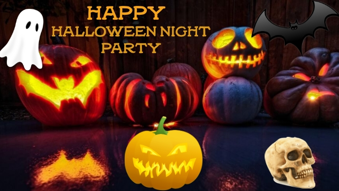 Halloween Facebook-covervideo (16:9) template