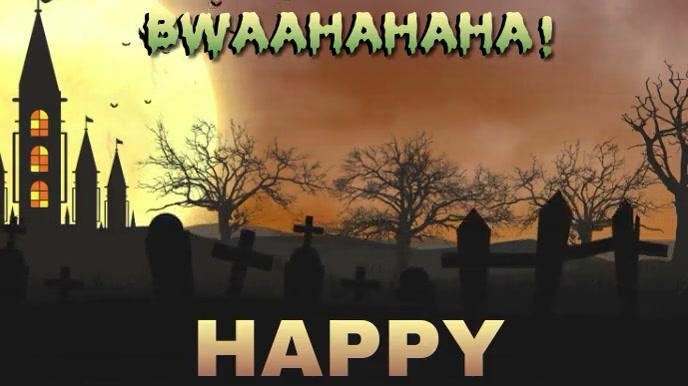 HAPPY HALLOWEEN CHEER 数字显示屏 (16:9) template