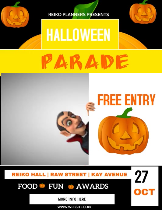 HALLOWEEN Pamflet (Letter AS) template