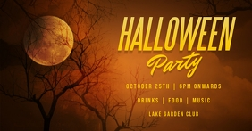 halloween Facebook-evenementomslag template