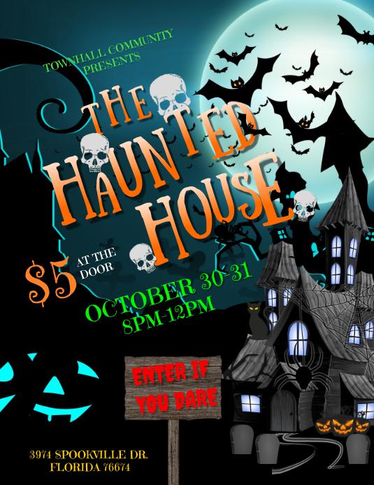 Halloween Flyer (Letter pang-US) template