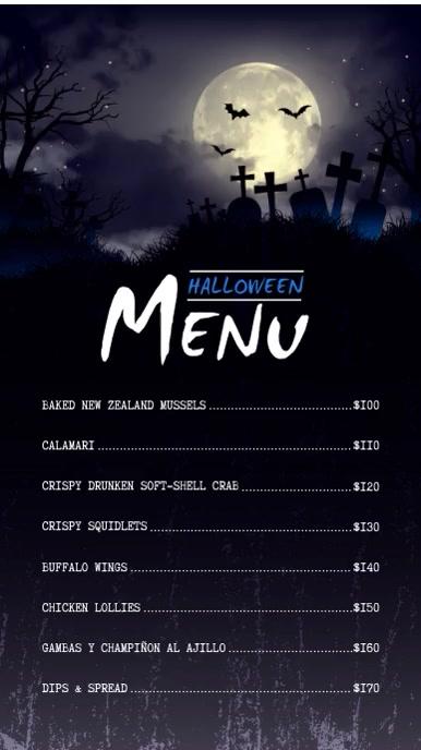 Halloween Digital Display Menu Board Video Template