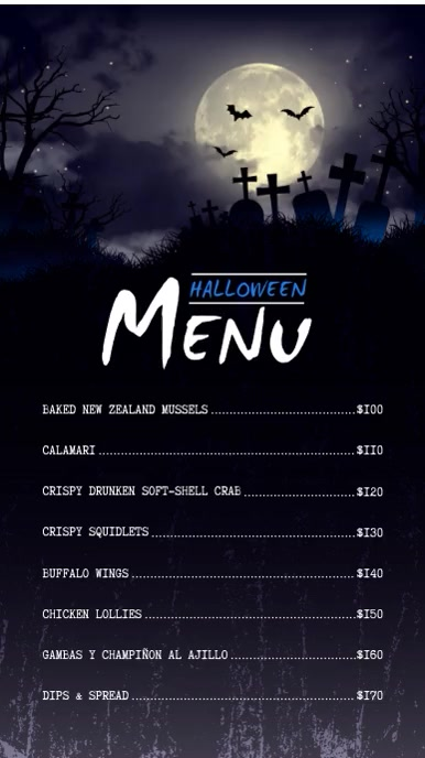 Halloween Digital Display Menu Board Video Template