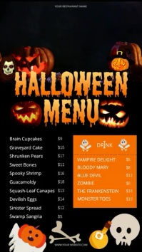 Halloween Digital Display Video Menu template