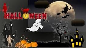 Halloween Digital Poster Umbukiso Wedijithali (16:9) template