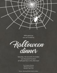 Halloween Dinner Invitation template
