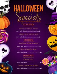 Halloween dinner menu Flyer (US Letter) template