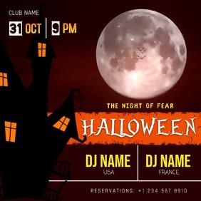 Halloween DJ Party Invitation Video Template