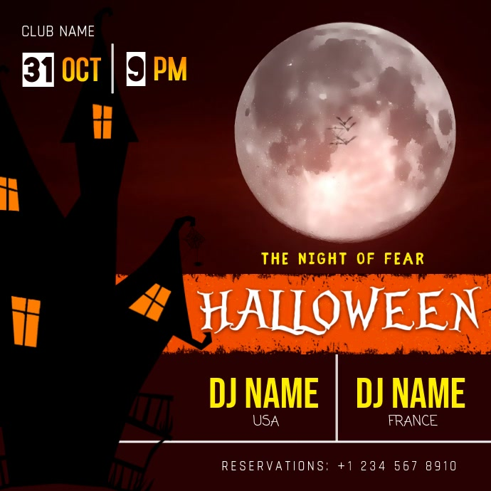 Halloween DJ Party Invitation Video Template