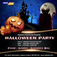 Halloween Dracula Party Invitation Instagram Post template