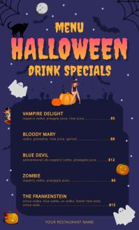 Halloween Drinks US Legal Menu