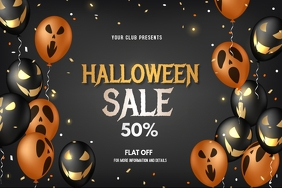Halloween event, Halloween sale event Iphosta template