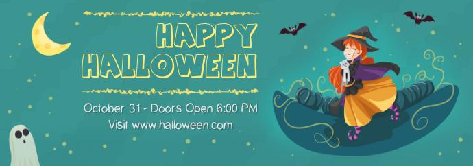 Halloween Event Aesthetic Invite Tumblr Header Template