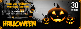 Halloween Event Cover Photo Portada de Facebook template