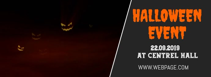 Halloween event facebook cover template Facebook-omslagfoto
