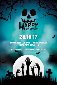 Halloween Event Poster template