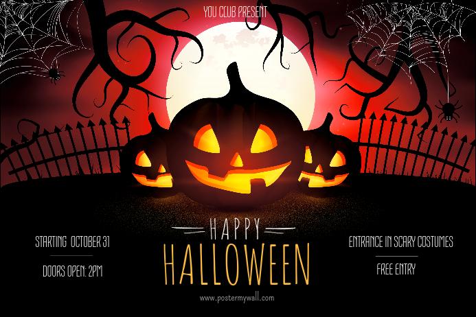 Halloween Event Invitation Poster Template