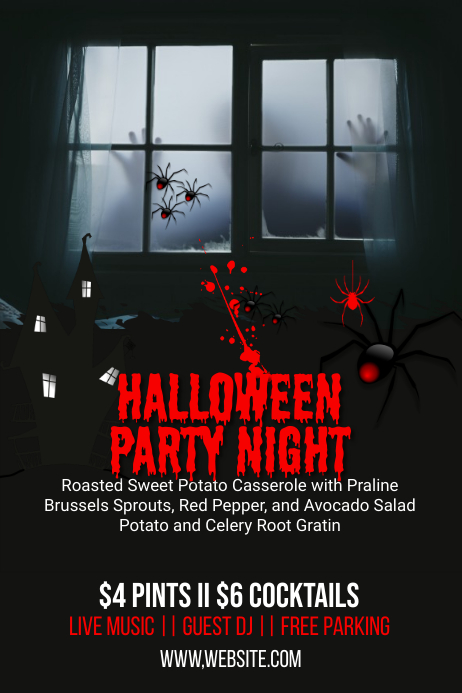 Halloween Event Party Banner Template