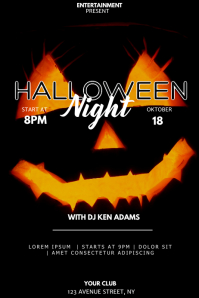 Halloween event party flyer template