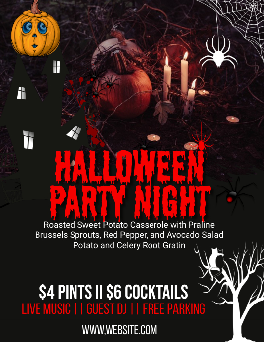 Halloween Event Party Flyer Template Folder (US Letter)