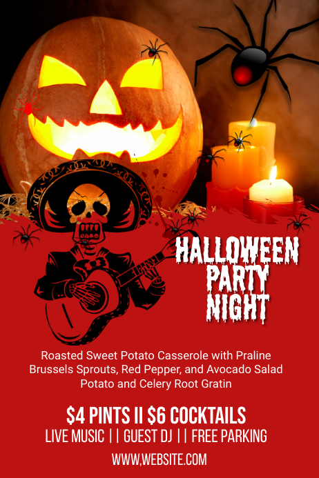 Halloween Event Party Poster Template