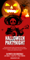 Halloween Event Party Roll Up Banner Template Rollbanner 3 stopy × 6 stóp