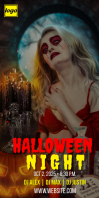 Halloween Event Party Roll Up Banner Template