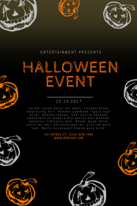 customizable design templates for halloween template postermywall halloween template flyer