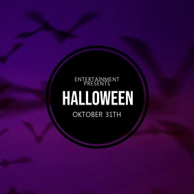 Halloween Event Video Advertising template for instagram