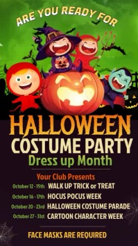Halloween Event Video Poster Template Instagram Story
