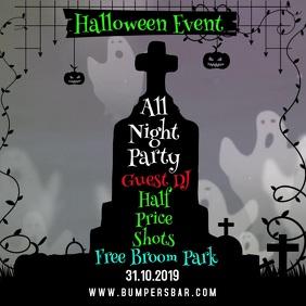 Halloween Event Video Template Instagram Post