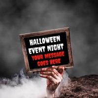 Halloween Event Video Template Сообщение Instagram