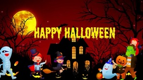 Halloween Facebook Cover For Party Event template