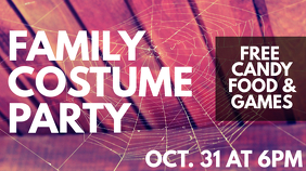 Halloween Family Costume Party Affichage numérique (16:9) template