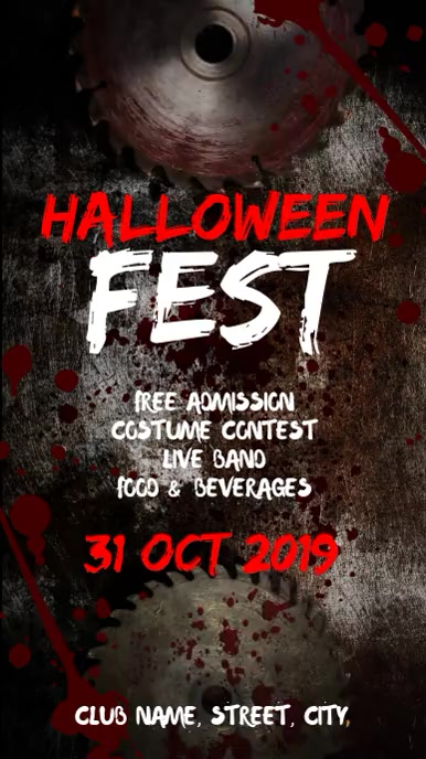 Halloween fest Tampilan Digital (9:16) template