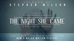 Halloween Film Screening Event Invite Video Template Ecrã digital (16:9)