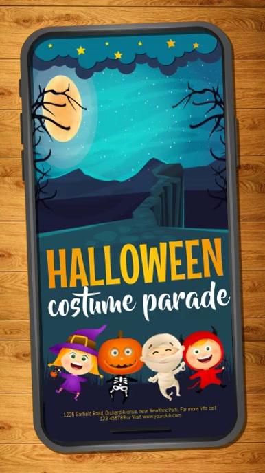 halloween flyer, halloween, happy halloween Historia de Instagram template