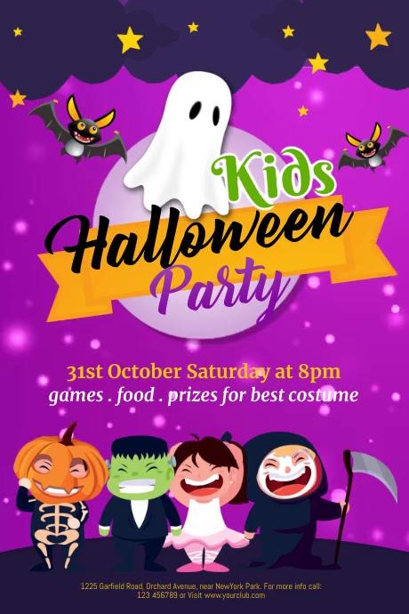 halloween flyer, halloween, happy halloween Poster template