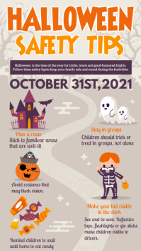 halloween flyer, halloween, happy halloween Digital na Display (9:16) template
