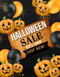 halloween flyer, halloween, happy halloween Pamflet (Letter AS) template