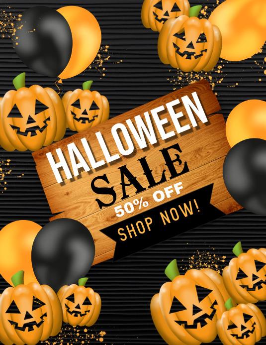 halloween flyer, halloween, happy halloween Folder (US Letter) template