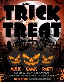 halloween flyer, halloween video, pumpkin