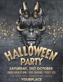 halloween flyer, happy halloween, spooky