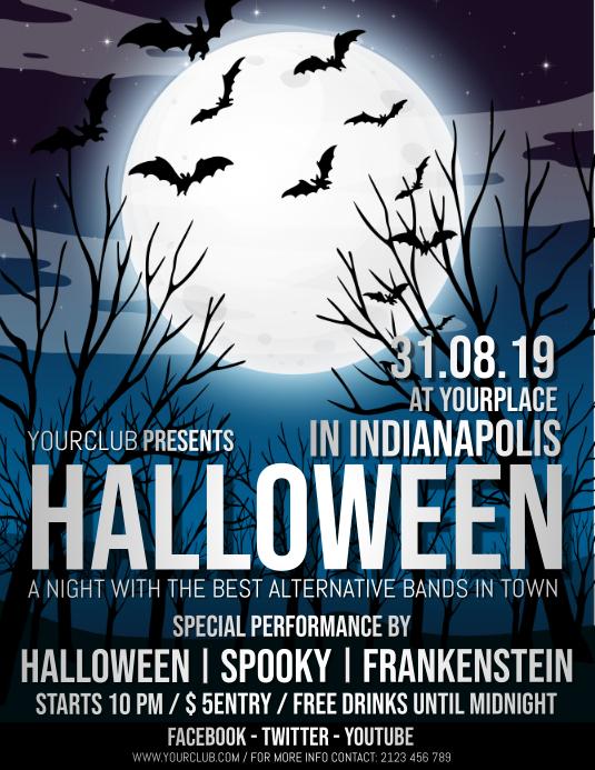 halloween flyer,halloween,halloween night Folder (US Letter) template