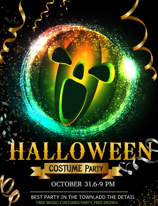 Halloween flyer ,event flyer,party flyers 传单(美国信函) template