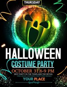 Halloween flyer ,event flyer,party flyers