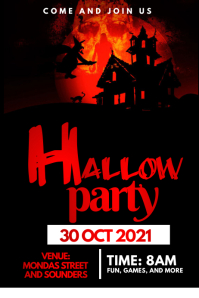halloween flyer Poster template