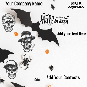 Halloween Flyer Sampul Album template